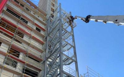 50m Treppenturm für Molkereibetrieb in der Eifel